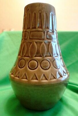 Vintage pottery West Germany W-Germany JASBA 184/16 Brown VASE pot ornament
