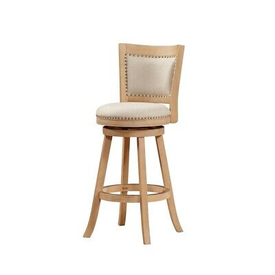 """29"""" Melrose Barstool, Creme  Wire-brush and Ivory"""