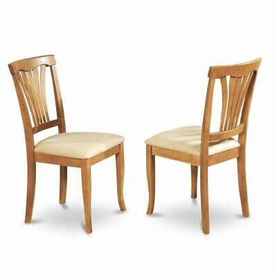 Avon  Chair    With  Cushion  Seat  -  Oak  Finish,  Set  of  2