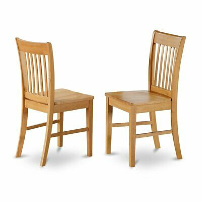 Norfolk  Dining  chair  with  Wood  Seat    -Oak  Finish.,  Set  of  2