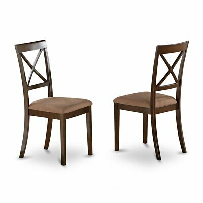 Boston  X-Back  dining  chair  with    Faux  Leather  Upholstered    Seat, ...