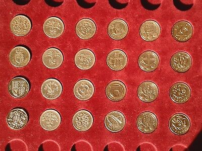 £1 Coin Set of 24 (All Designs) Circulated