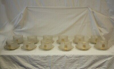 Antique Set of 12 Bowls with Saucers