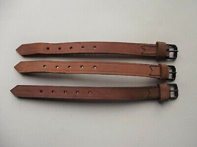 """Pair WW2 Motorcycle 1/"""" x 42/""""  leather cargo straps New made reproduction."""
