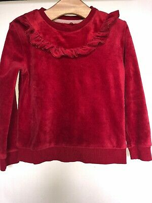 🎁Girls Red Long Sleeved M&S Top Age 3-4 Years