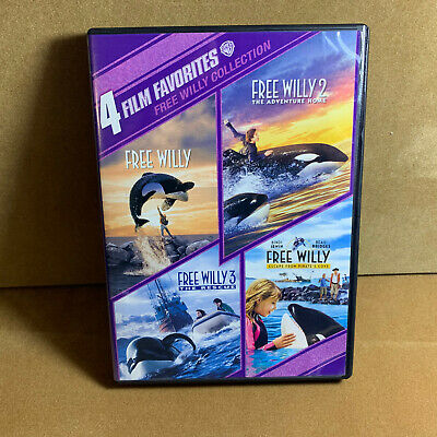 Free Willy 1 2 3 4 Collection: 4 Film Favorites (DVD, 2010, 4-Disc)