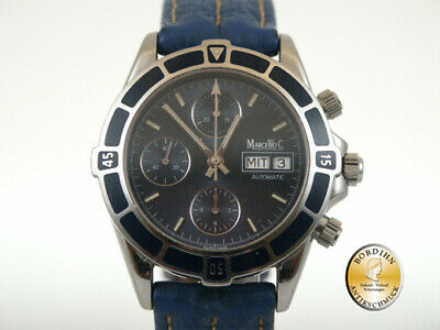 Wrist Watch Marcello C Steel Automatic Chronograph Watch Men's Watch