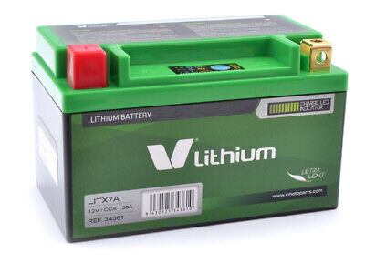 Batterie Lithium-Ionen YTX7A-BS SMC Barossa 150 / 170 / 200