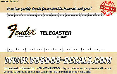 Fender Telecaster Custom headstock waterslide decal