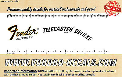 Fender Telecaster Deluxe USA headstock waterslide decal