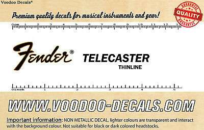Fender Telecaster Thinline headstock waterslide decal