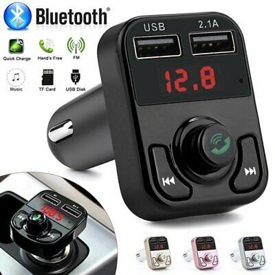 Bluetooth Car FM Transmitter Wireless Radio Adapter USB Charger Mp3 Player 2019