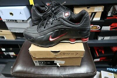 quality design 4a888 f9015 USED NIKE SHOX R4 BLUE WHITE RED 105252-401 Sz 6.5 BOTTOMS CRACKED ...