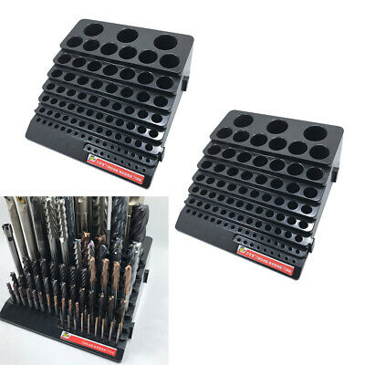 2 Pcs Drill Bit Holder 85 Holes Milling Cutter Screwdriver Bit Storage Case