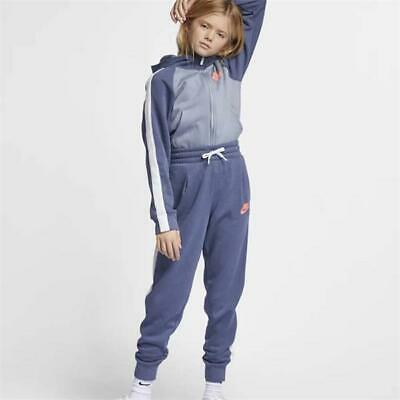 Nike Girls Sportswear Tracksuit Blue/White CD7542 491 Size XS_S_M_L_XL