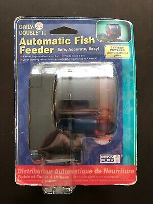 Daily Double II Battery-Operated Automatic Fish Feeder