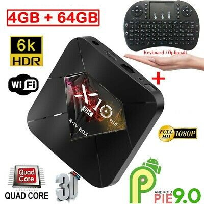 Lot LCD X10 PLUS Smart TV Box Android9.0 4+64G WiFi 6K Quad Core Player+Keyboard
