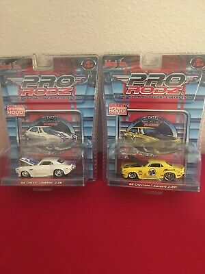 Lot Of Maisto Pro RodZ 68  Chevy Camaro Z28 White Yellow Die Cast 1/64 Scale
