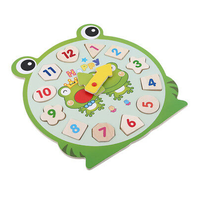 Frog Bear Design Kids Wooden Puzzle Baby Kids Developmental Educational Toy WE