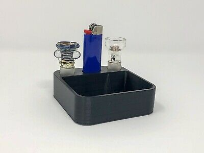 Ashtray With Poker For Water Pipe   Bong Ashtray   18mm Or 14mm Slider Holder