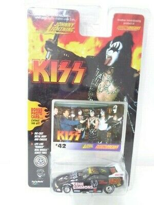Johnny Lightning Kiss Diecast Racing Car #42 Backstage Gene Simmons - New