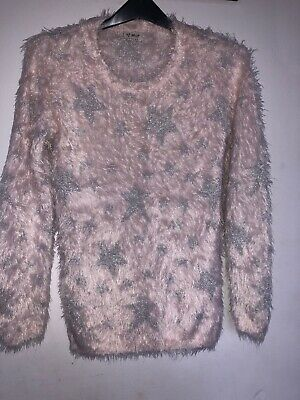 🎁Girls Sparkly Star Pink  Jumper Next size 11 years