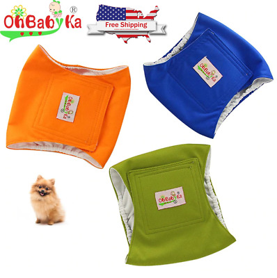 Male Dog Diapers Large Reusable Machine Washable Puppy Belly Band *Pack of 3*