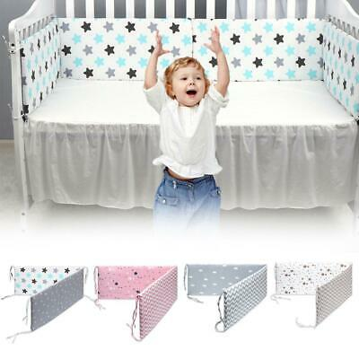 Cotton baby bumpers Cot Crib Breathable Safety Protector Kids Bedding Set