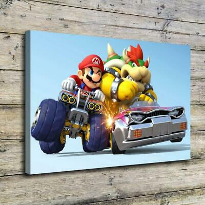 """12""""x18""""Mario Yoshi HD Canvas prints Painting Home Decor Picture Wall art Poster"""