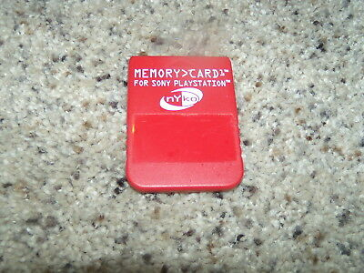 Nyko Red memory Card for Sony Playstation