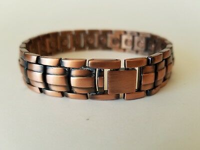 84cac5a3418f8 NEW COPPER MAGNETIC LINK BRACELET mens womens STYLE#LE jewelry ...
