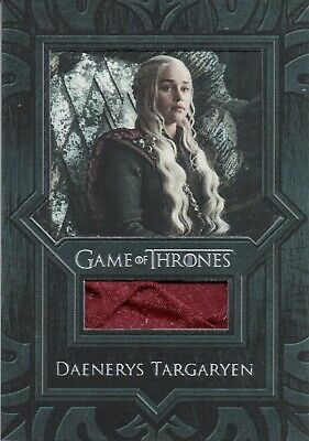 Game of Thrones Inflexions, Daenerys Targaryen Cape VR9 Costume Relic Card