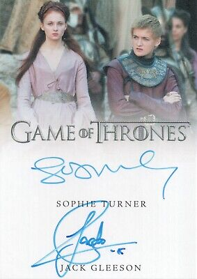 Game of Thrones Inflexions, Sophie Turner / Jack Gleeson Dual Autograph Card