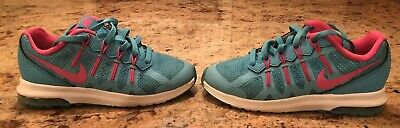 709918f105 Nike Girls AIR MAX Shoes Size 12.5 Teal & Pink Youth Kids Athletic Running  ...