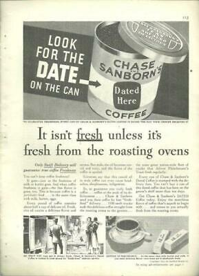 Lot of Four Advertisements for Chase and Sanborn Coffee 1932/1940/1956/1957