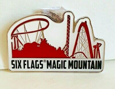 Six Flags Magic Mountain Exclusive Coaster Skyline Refrigerator Magnet New
