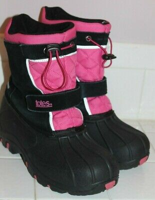 4f57f1ed0d64a TOTES KIDS JILLIAN Style Black Girl Winter Boots US Size 4 Med ...