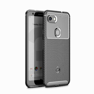 For Google Pixel 3a XL Matte Frosted Protective TPU Back Cover Carbon Fiber Case