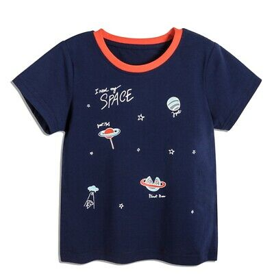 ABC KIDS Toddler Boys T-shirt Short Sleeve Starry Print Cotton Tees Clothing New