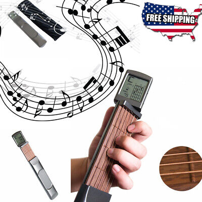 Guitar Trainer Battery Powered Digital Stretchable Travel Chord Assistant Learn