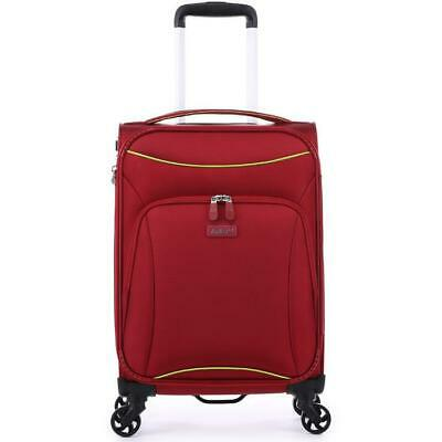 Antler Zeolite Cabin/Carry On 56cm Red Soft Suitcase Travel Luggage