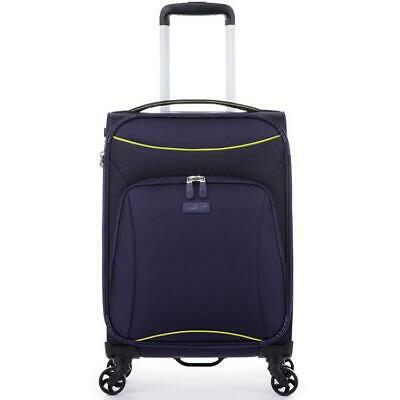 Antler Zeolite Cabin/Carry On 56cm Purple Soft Suitcase Travel Luggage