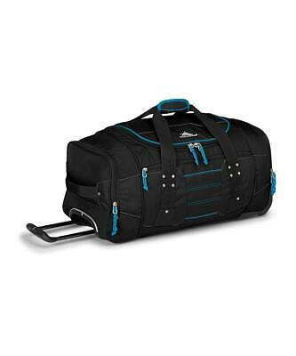 High Sierra Ultimate Access Medium 66cm Black/Blue Wheeled Duffle Travel Luggage