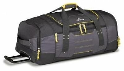 High Sierra Ultimate Access Large 76cm Charcoal/Yellow Wheeled Duffle