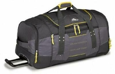 High Sierra Ultimate Access Medium 66cm Charcoal/Yellow Wheeled Duffle