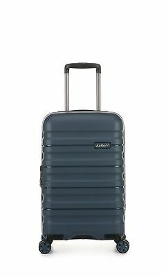 Antler Juno 2 Cabin/Carry On 56cm Navy Expandable Hard Suitcase Travel Luggage