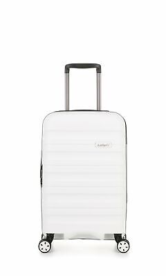 Antler Juno 2 Cabin/Carry On 56cm White Expandable Hard Suitcase Travel Luggage