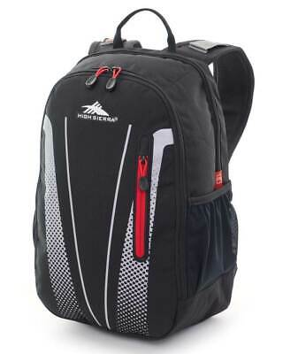 """High Sierra Fusion 15"""" Laptop Black/Red Backpack Travel Luggage"""