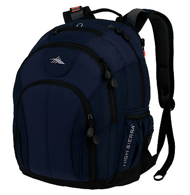 "High Sierra Academy 15"" Laptop Backpack Navy Travel Luggage"
