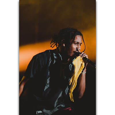 E-49 ASAP Rocky At Long Last Rapper Hip Hop Music Album Fabric Poster Print